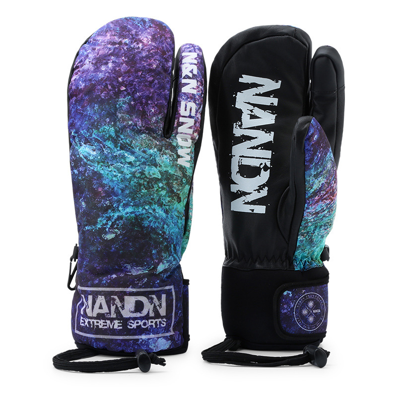 Gants de Ski hommes femmes chaud hiver imperméable Ski Snowboard gants motoneige équitation moto extérieur neige gants - 2