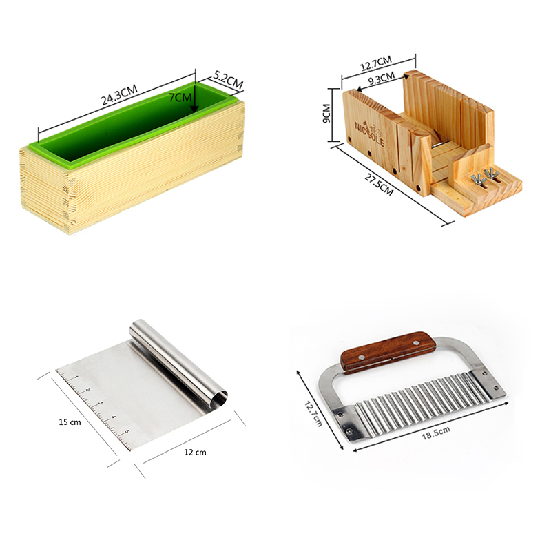 Silikonski kalup za izradu sapuna Alat Set-4 podesivi drveni štruca - Umjetnost, obrt i šivanje - Foto 2
