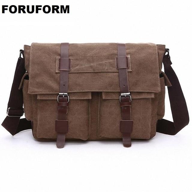 95363d7a84 Men Bags Vinatge Canvas Messenger Bags 2018 Designer Brand Men s Fashion Crossbody  Shoulder Bag Solid Male Casual Travel LI-2075