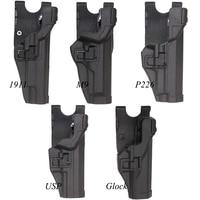 Caccia Pistola Accessori Tattici Militari Softair Fondina Per Gl 17 19 22 M9 92 Colt 1911 Sig P226 HK USP