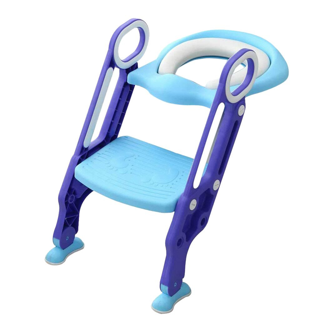 Baby Child Potty Toilet Trainer Seat Step Stool Ladder Adjustable Training Chair(China)
