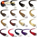 """0.4g-0.5g/s100strands 18"""" 20"""" 22""""24""""50g/pk Remy Micro Nano Ring Hair Extensions 100% Indian Human Hair Black Brown Blond STOCK"""
