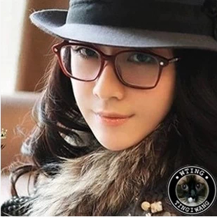 trendy eyewear  2014 trendy korean new plain eyeglasses quare full frame optical ...