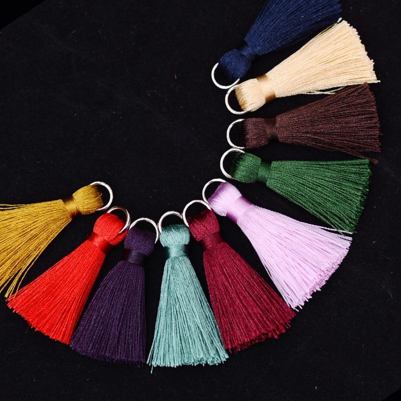 12pcs/lot 5cm Mini silk tassel fringe sewing bangs flower tassel pendant tassels for DIY curtains home decoration accessories