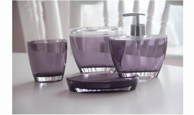 French Style Acrylic Bathroom Set 4pieces Bath set 4pcs Bathroom Accessories Set Sanitary Set 4pcs Free Shipping