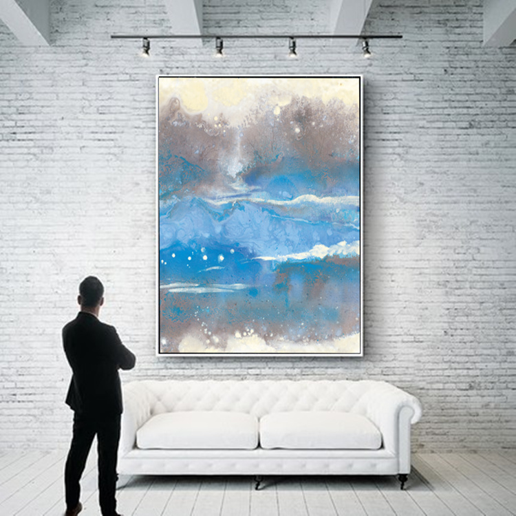 Modern Abstract Painting Canvas Home Decor Living Room Dining Vertical Hanging Wall Art Picture Printings