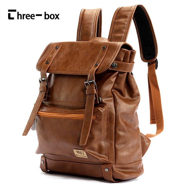 Three-box Brand Leather High Quality Backpack Youth Travel Rucksack School Laptop Book Bags Male Business Shoulder Bag Mochila men backpack top quality leather shoulder bags school bag book rucksack for male travel tote bagpack mochila