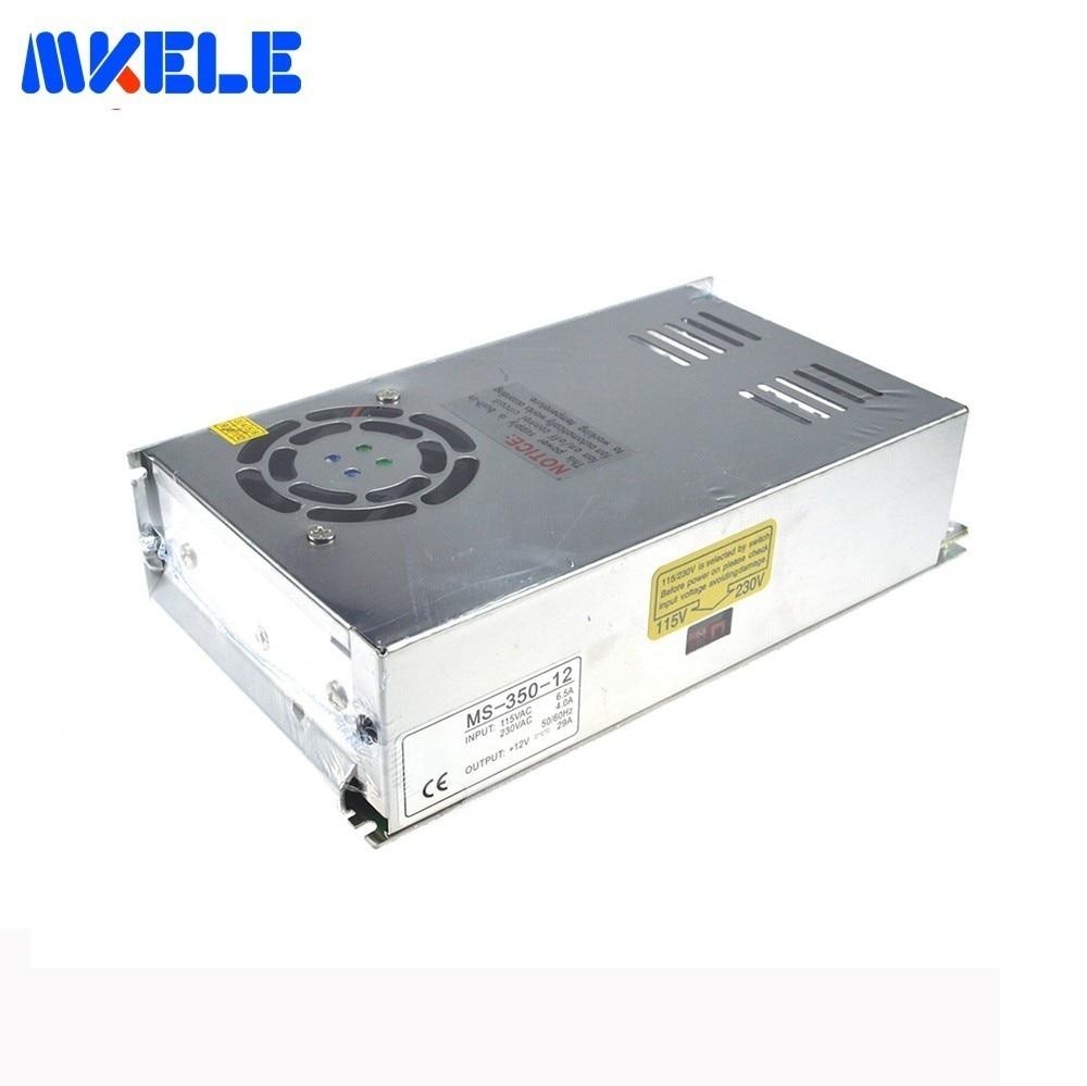 Livraison gratuite Certification CE Smps MS-350 AC-DC 5 V 12 V 24 V 48 V interrupteur alimentation unique sortie 350 W alimentation à découpage