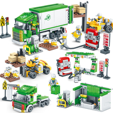 4in1 526pcs Educational Building Block Toys Compatible With Legoingly Engineer Series Intelligence Assembly Logistics Center стоимость
