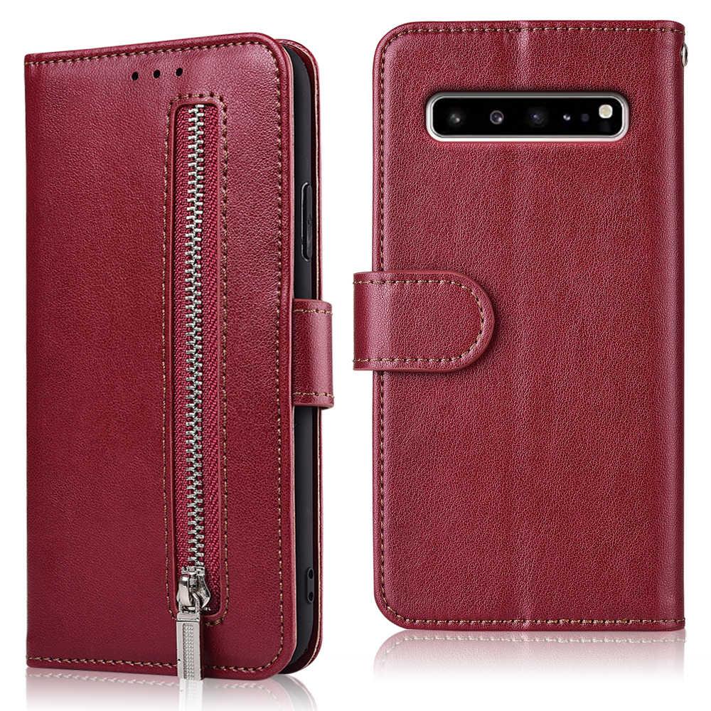 Coque Dành Cho Samsung Galaxy Samsung Galaxy J2 J3 J4 J5 J6 J7 J8 Plus M10 M20 M30 S10 5G Plus S10e khóa kéo Bao Da Ví Da Có Dây Đeo Khe Cắm Thẻ