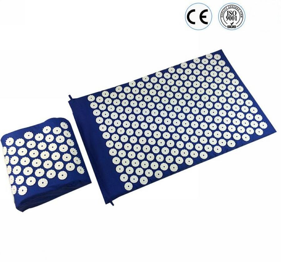 Health Care Massager Yoga Mat Acupuncture Spike Pad Massage Mat Acupressure Cusion Relieve Stress Pain With Pillow acupressure spike yoga pillow mat relief health care shakti massager relaxation neck back pain treatment