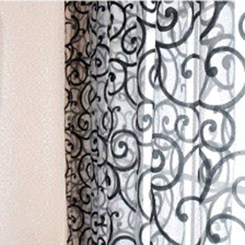 Stylish Floral Tulle Door Window Curtains Balcony Drape