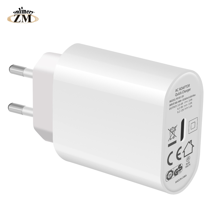 Zmonlinery Wall-Charger Power-Adapter Apple IPhone Type-C Max-X-iPad 18W For XR 8-Xs