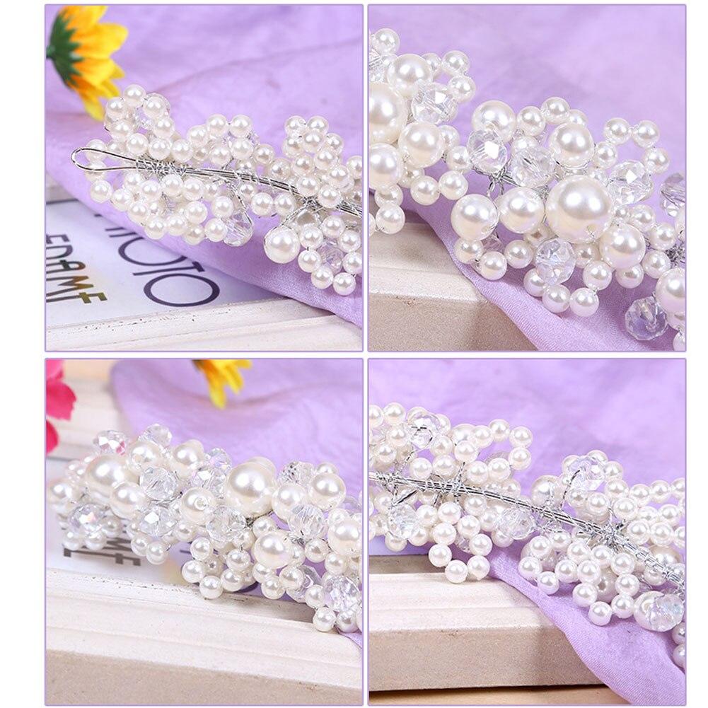 Hochzeit Haarschmuck Für Noiva Braut Kristall Perle Handgemachte - Modeschmuck - Foto 4