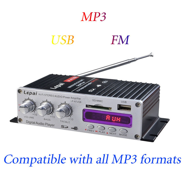 Best Offers LP-A7USB mini car amplifier MP3 player Car amplifier motorcycle power amplifier Mini USB SD DVD CD FM MP3 +Remote Controller