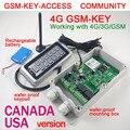 Frete grátis GSM-KEY-ACCESS 4 G versão DC12V 3 G / 4 G / gsm portão opener com teclado remoto teclado de controle de acesso de mudança de senha