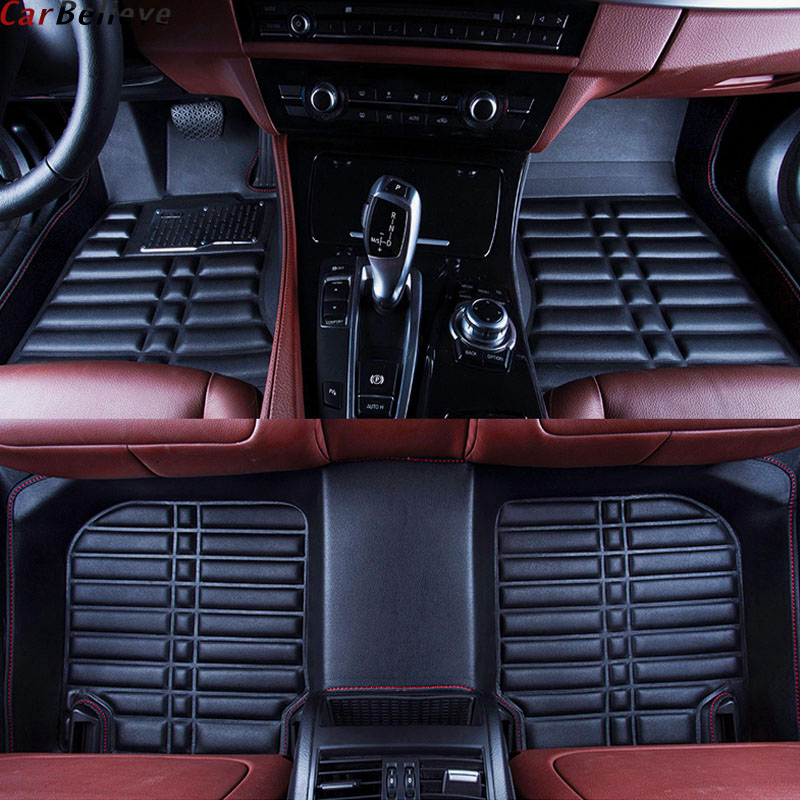Car Believe Auto car floor Foot mat For chrysler 300c voyager waterproof accessories carpet car believe auto car foot floor mat for porsche cayenne 958 2017 2010 panamera cayman 955 957 958 waterproof car accessories
