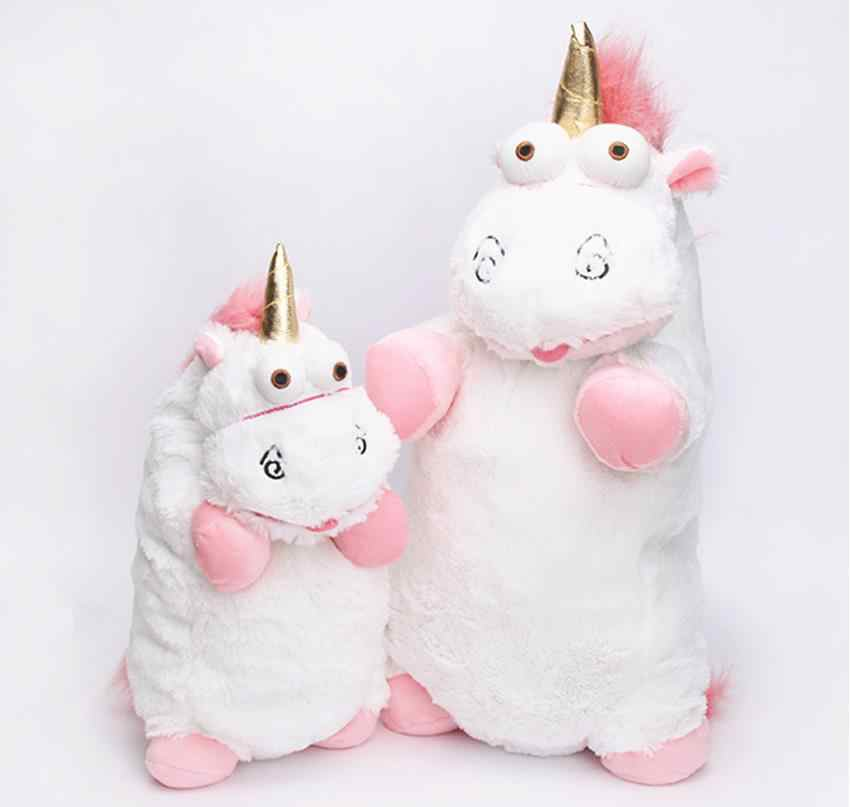 56 cm 40 cm 18 cm 15 centímetros Fluffy Unicorn Plush Soft Toy Stuffed Animal Unicórnio Bonecos de Pelúcia Juguetes de peluches Bebe