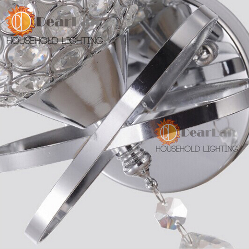 Современный стиль прикроватная настенная лампа ступеньки спальни лампа хрустальные Настенные светильники E27 светодиодный настенный светильник серебро/золото светодиодный светильник для украшения спальни