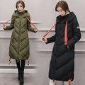 2016 Mujeres de la Chaqueta de Invierno Y El Otoño de Desgaste de Invierno Parkas Chaquetas de Invierno Outwear Mujeres Abrigo Largo Coatscasacos de inverno feminino
