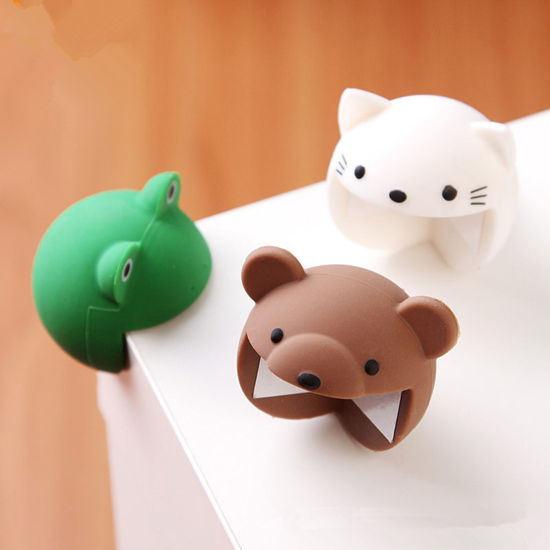 Funny Toy Silica Cartoon Animal Protects Children Table Corner Toy Gift For Children Kids