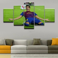 Modern Wall Art Soccer Sports Pictures Home Decorative 5 Panel Alexis Sanchez Painting On Canvas Posters And Prints Framework
