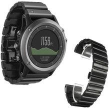 Из Металла Нержавеющая сталь 24 мм для Garmin Fenix 3 HR ремень Смарт часы браслет с Инструменты часы Бретели для нижнего белья