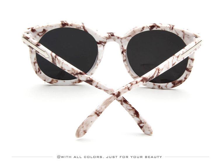 HTB1IczCSXXXXXb8aXXXq6xXFXXXk - Marbling Sunglasses Women Round Frame PTC 268