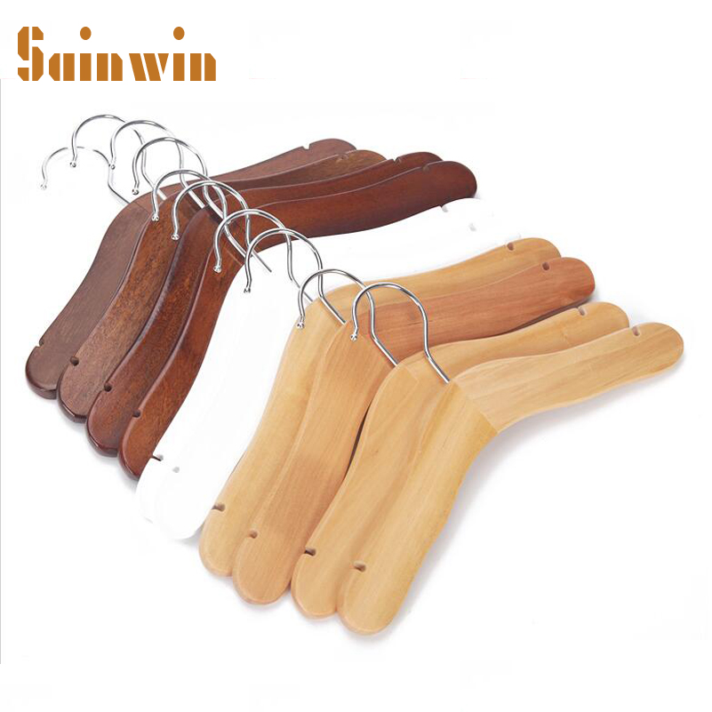 Sainwin 10pcs lot Top Quality Kids Wooden Hangers for Clothes Children Small Hanger Natural Wood Baby