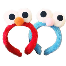 Plush Sesame Street Eye Hair Hoop Women With Children Girl Lovely Decoration Accessories