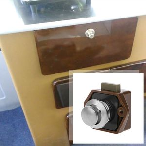 Image 5 - 1 Pc Mini Push Button Boat Mortorhome Showcase Door Catch Lock Van RV Caravans Yacht Furniture Drawer Cabinet Accessories qiang