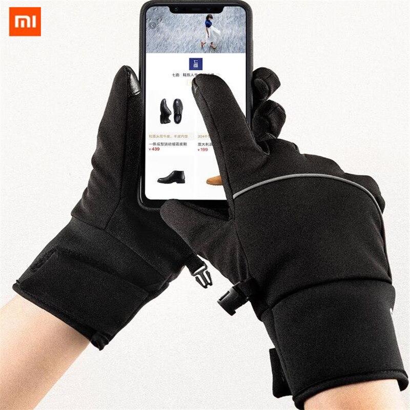 Xiaomi Mijia Touchscreen Handschuhe Samt Winter Herbst Im Freien Verdicken Warme unisex für fahren, moto, angeln unisex Qimian
