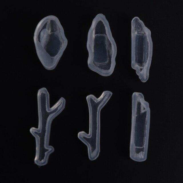 Ramo de Madeira Modelo De Pedra Jóias Decoração DIY Artesanato Molde de Silicone Moldes de Resina