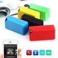 Hongsund Estilo Bluetooth Speaker X3 FM Sem Fio TF USB Caixa de Som Portátil de Música Alto-falantes Subwoofer com Mic caixa de som