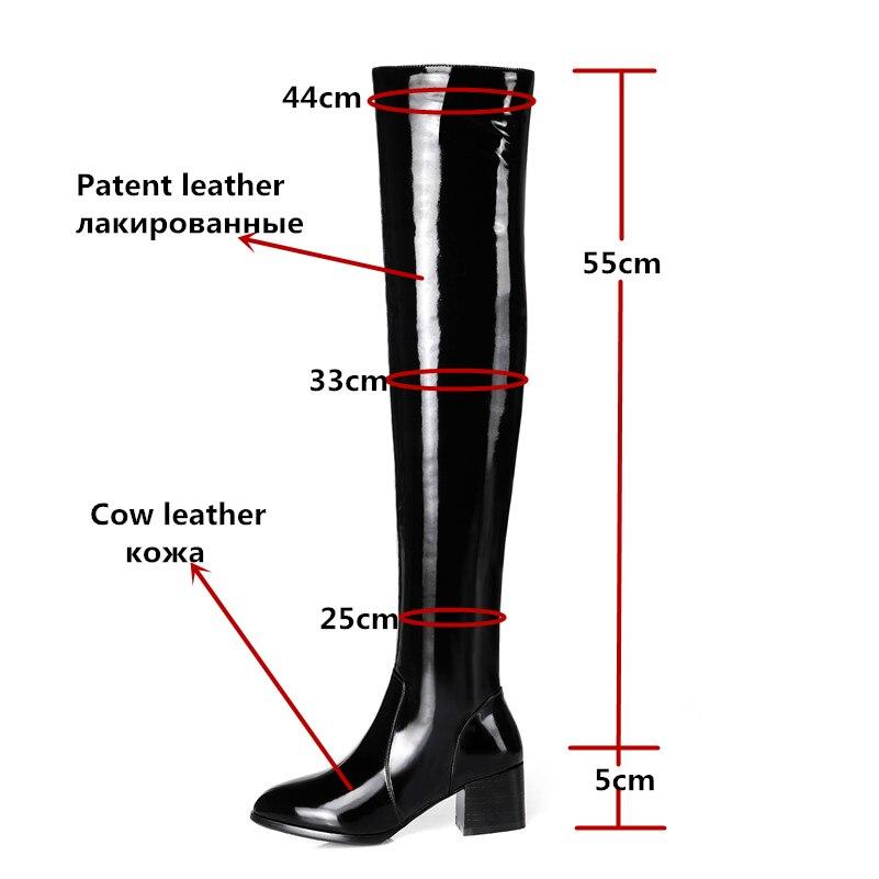 FEDONAS najwyższej jakości kobiety jesień zima ciepłe buty z prawdziwej skóry wysokie obcasy krowa skórzane kozaki damskie zwykły rozciągnąć kobieta w Buty za kolano od Buty na  Grupa 2