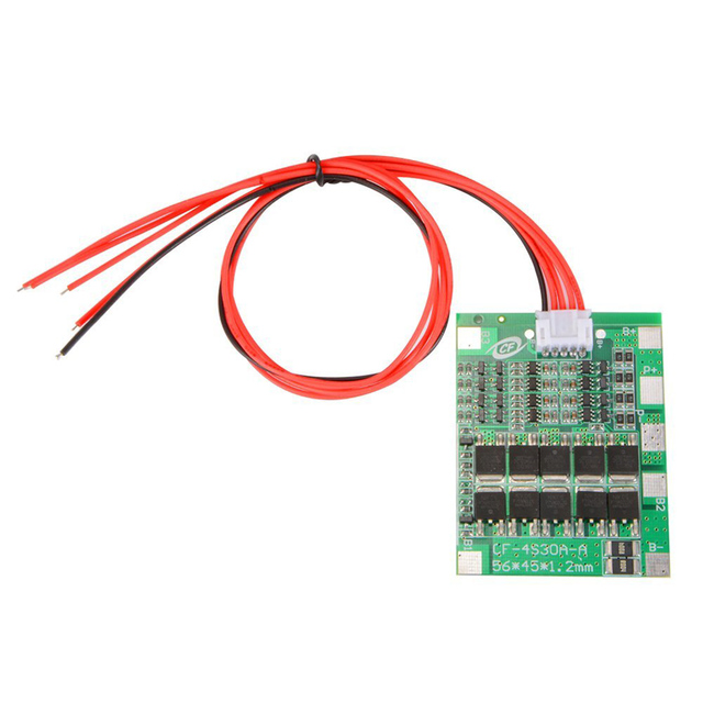 4S 16.8V 30A Li ion Lithium Battery 18650 Charger Protection Board PCB BMS Balance Module High Current TE742