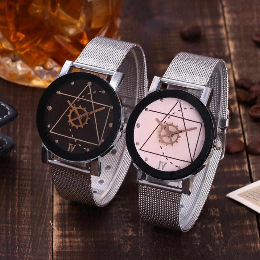 Vansvar מקרית קוורץ נירוסטה בנד שיש רצועת שעון אנלוגי שעון יד נשים שעונים למעלה מותג יוקרה Reloj Mujer