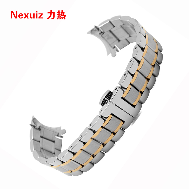 Wholsale Watchband 19mm 20mm 21mm 22mm watch  Bracelets high quality  stainless steel  watch Accessories high quality watchband stainless steel metal matte watches accessories 18mm 20mm 22mm 24mm watch strap black bracelets promotion