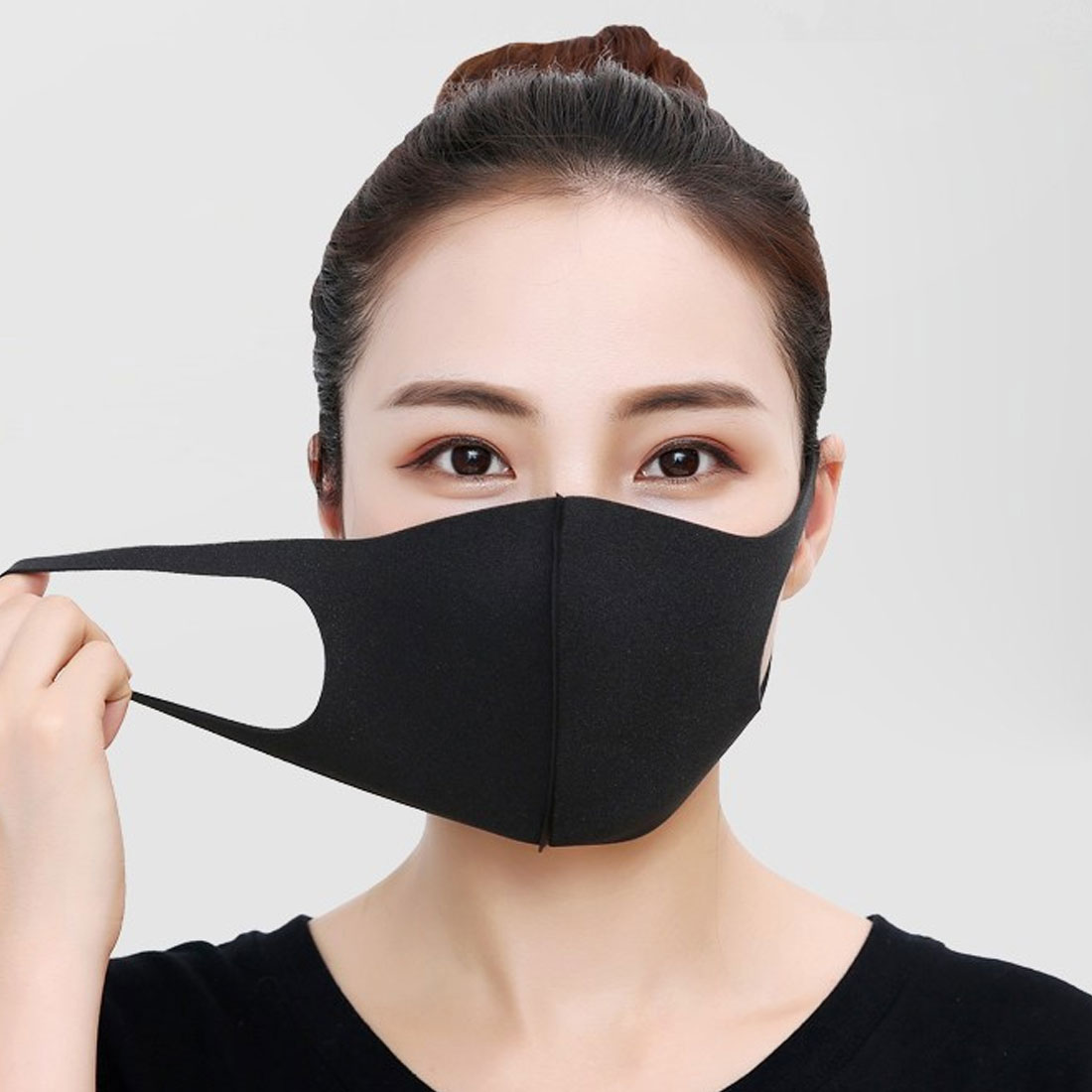 Simple 1pcs Cotton Mask Simple Masque Unisex Black Cycling Anti-dust Breathable  Mouth Face Mask
