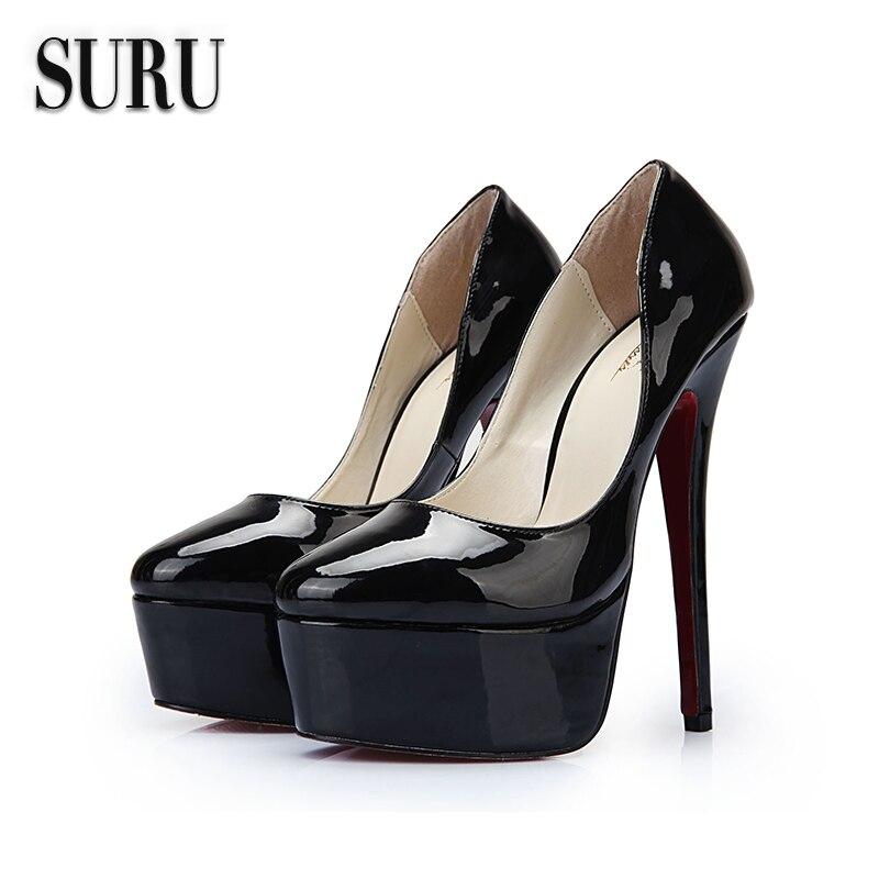 Hot Ing Women Black Wedge Shoes P Toe Fashion High Heel Thick Bottom Sandal Lady