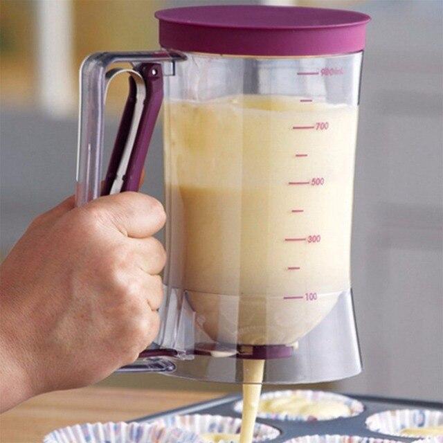 900 ml Batter Dispenser con Bilancia Pasta Crema Imbuto Tazza di Pasticceria Fru