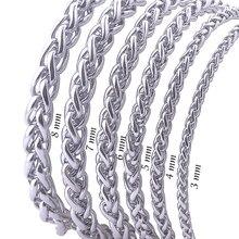 Никогда не выцветает из нержавеющей стали мужское ожерелье цепочка 3 4 5 6 7 8 мм Высокое качество звено цепи ожерелья