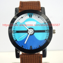 100pcs Wholesale Casual Canvas Strap Quartz Wristwatch Women Men Children Fashion Watch Fress Shipping DHL Militery Watch