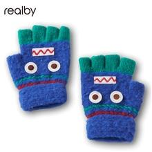 Mittens For Children Exposed Gloves Winter Warm Half Finger Gloves Easy To Write Hand Warmer Gloves C6131