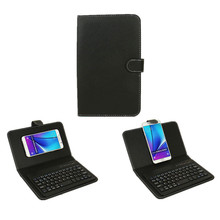 Keyboard Case for Iphone 7 Plus Tablet PC General Bluetooth 3.0 Wireless Phone Leather Cover Case for Samsung With Sucker SL153