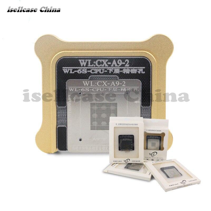 Wozniak WL Meilleur pour iphone 6 6 s 6sp Plus CPU NAND A7 A8 A9 A10 processeur BGA reball D'étain Net Pochoir Grand Réparation Outil base