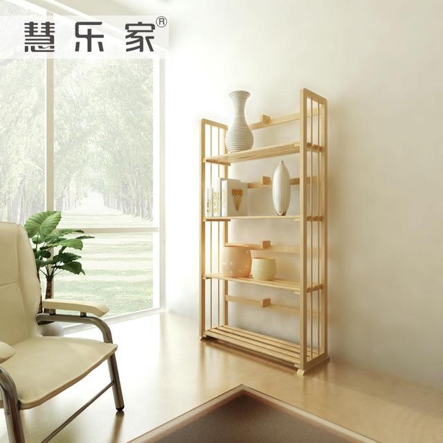 Hui Roca de madera de pino estantería simple y elegante cuatro ...
