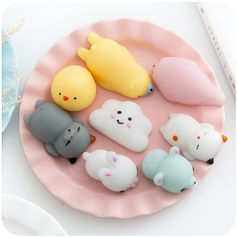 1 Pcs Squishy Anti Stress Toys Luminous Cute Seals Soft Rubber Small Animals Whole Small Toy Funny Squeeze Stress Relief Gift