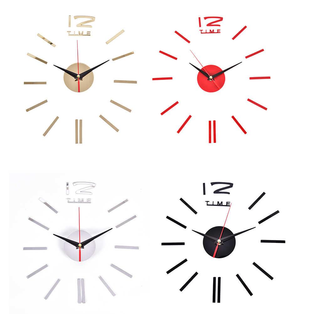 New 3D lớn đồng hồ treo tường dán vội vã gương tường nhãn dán tự làm phòng khách trang trí nội thất thời trang đồng hồ đến treo tường Thạch Anh đồng hồ