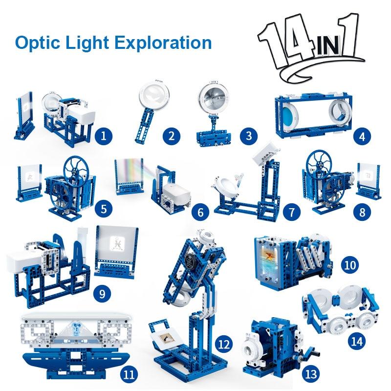 BanBao 6922 14 In 1 Optic Light Exploration Technic Machine Experiment Brick